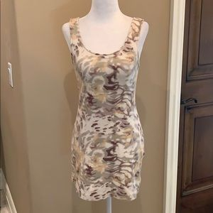 Camouflage scoop back tunic